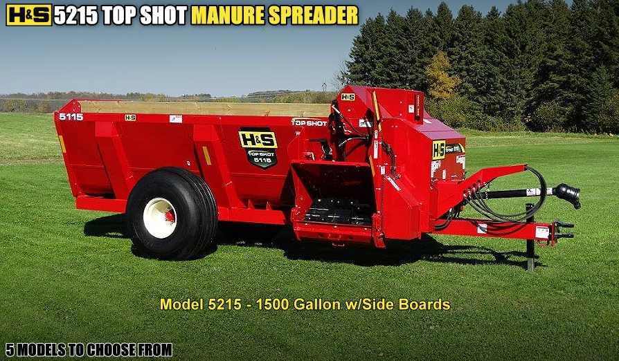 H&S Manure To Provide An Even Heavy Or Light Spread Of