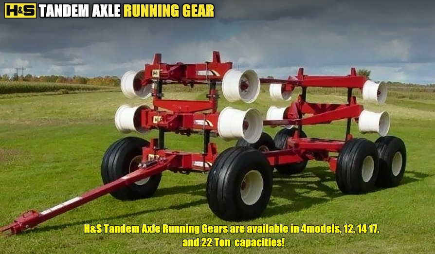 H&S Chassis/Running Gears For Accommodating Forage Boxes and