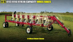 4112 4114 4116 high capacity wheel rake