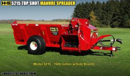 HS 5215 top shot manure spreader