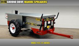 HS ground drive manure spreader