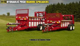 HS hydraulic push manure spreader