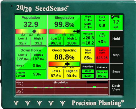 20 20 Seedsense Color Coded Touchscreen Display Better Planter